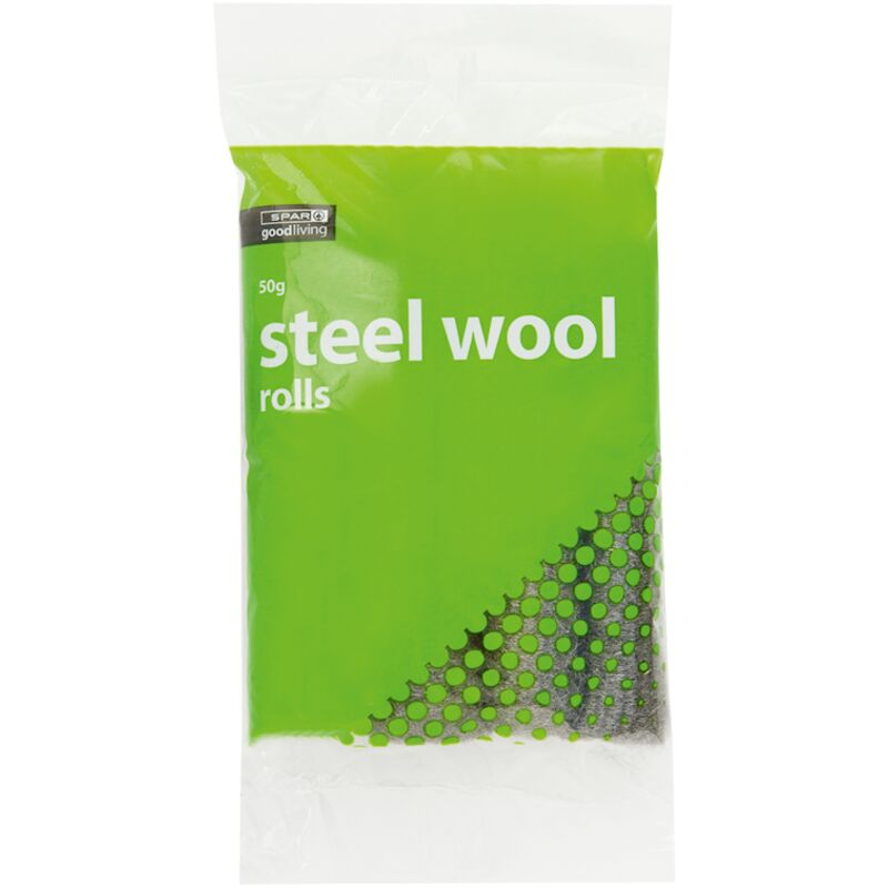 GOOD LIVING STEEL WOOL ROLLS – 50G