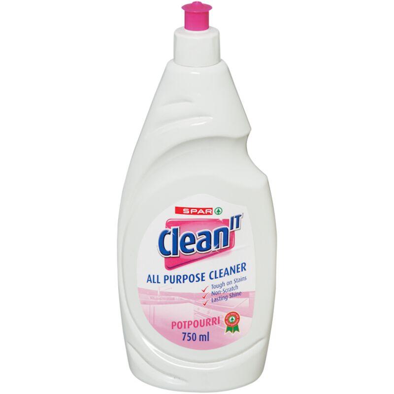 SPAR CLEAN IT ALL PURPOSE CLEANER POTPOURRI – 750ML