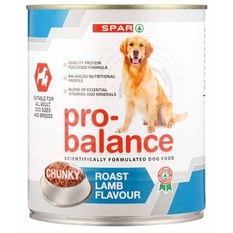 SPAR PRO BALANCE ADULT DOG ROAST LAMB – 775G