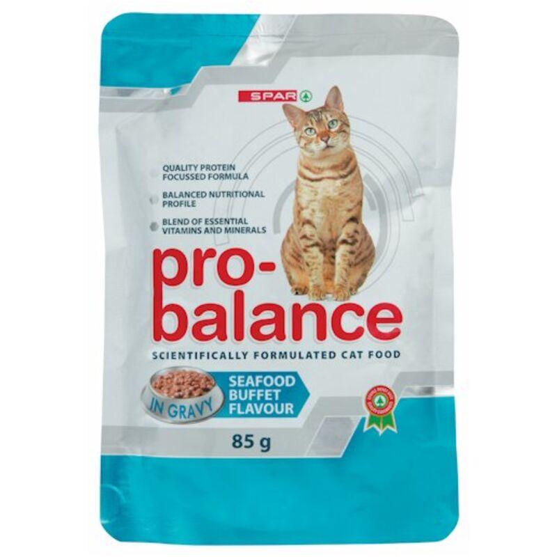 SPAR PRO BALANCE CAT FOOD SEAFOOD BUFFET – 85G