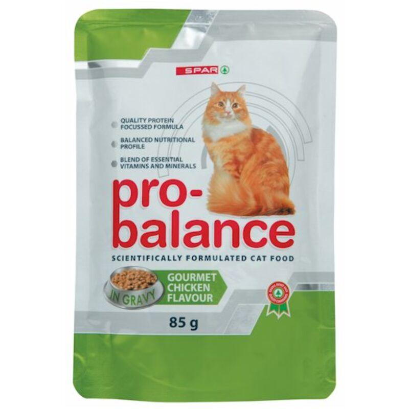 SPAR PRO BALANCE CAT FOOD GOURMET CHICKEN – 85G