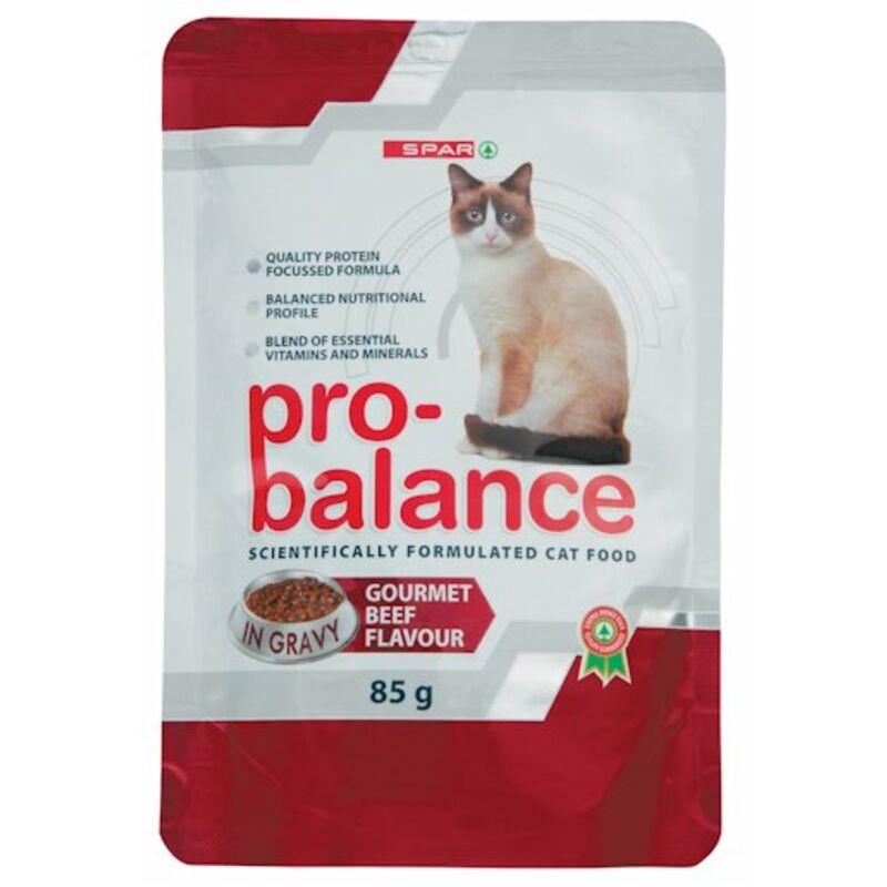SPAR PRO BALANCE CAT FOOD GOURMET BEEF – 85G