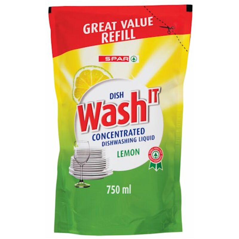 SPAR DISHWASH IT REFILL LEMON – 750ML