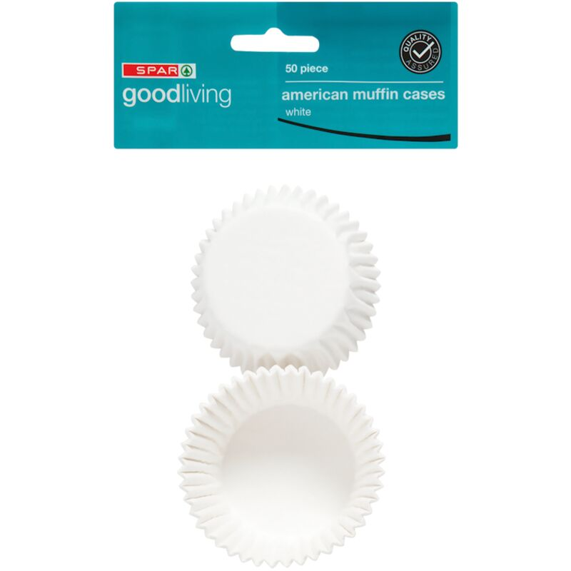 GOOD LIVING MUFFIN CASES AMERICAN WHITE – 50S