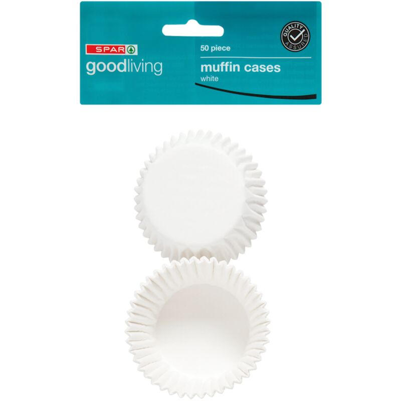 GOOD LIVING MUFFIN CASES WHITE – 50S