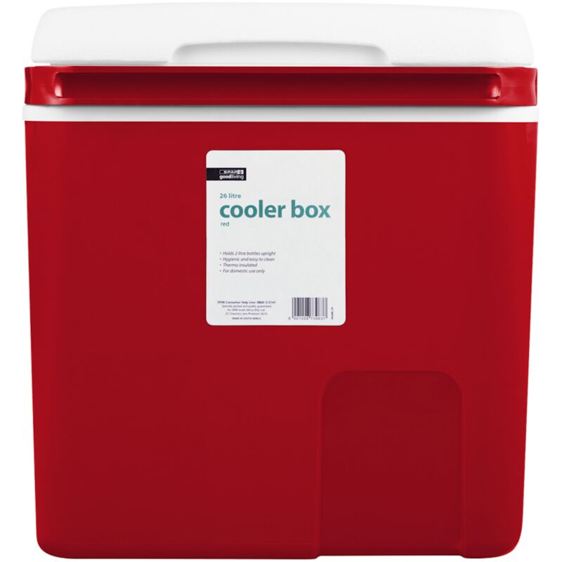GOOD LIVING COOLER BOX RED 26LTR – 1S
