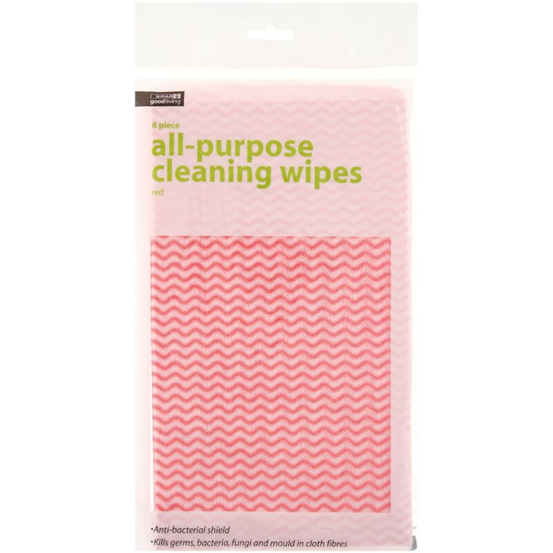 GOOD LIVING CLEANING WIPES RED – 6S