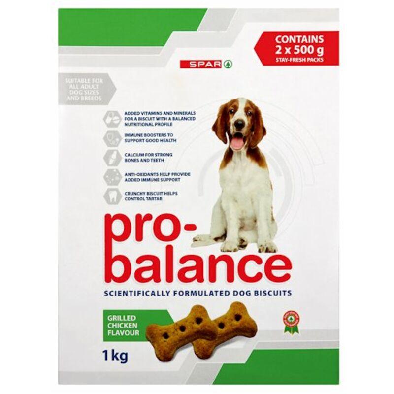 SPAR PRO BALANCE DOG BISCUITS GRILL CHICKEN – 1KG