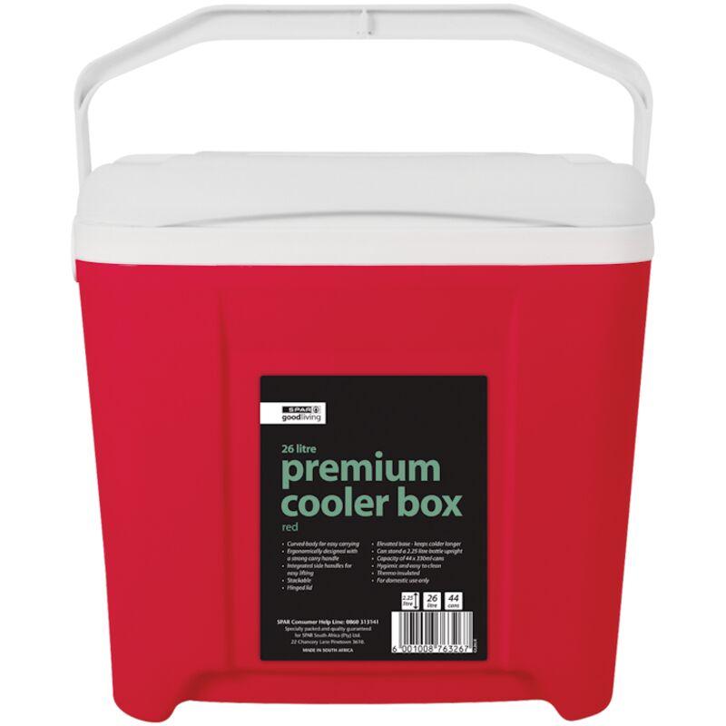 GOOD LIVING PREMIUM COOLER BOX RED 26LTR – 1S