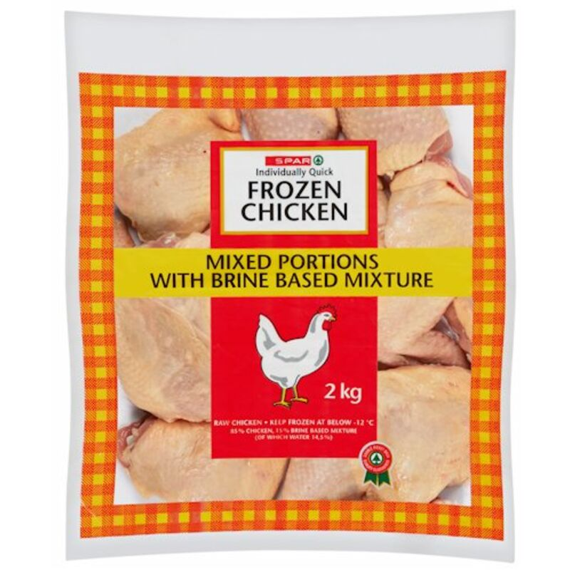 SPAR IQF CHICKEN MIXED PORTIONS – 2KG