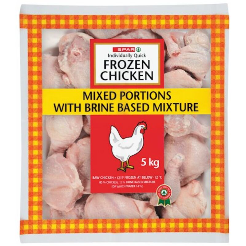 SPAR IQF CHICKEN MIXED PORTIONS – 5KG