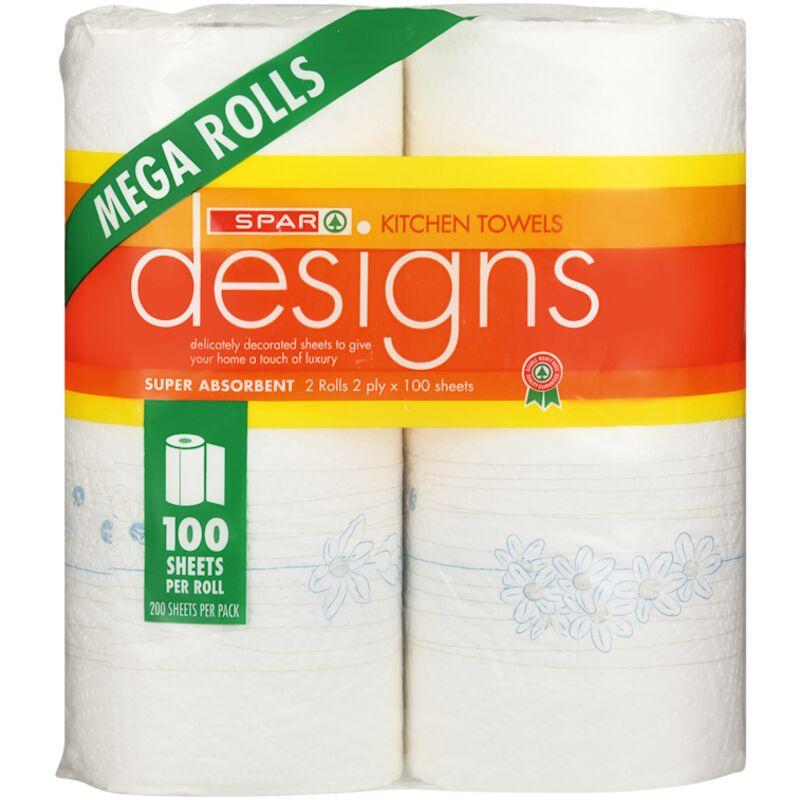 SPAR 2PLY ROLLER TOWEL MEGA ROLL COOL – 2S