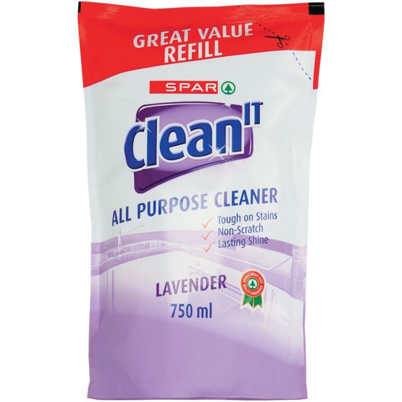 SPAR CLEAN IT ALL PURPOSE CLEANER REFILL LAVENDER – 750ML