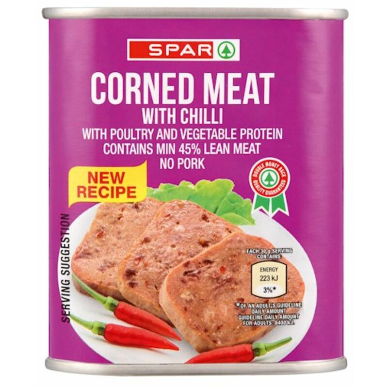 SPAR CORNED MEAT WITH CHILLI – 300G