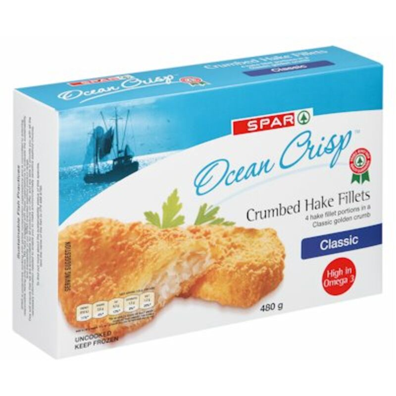 SPAR HAKE CRUMBED PORTIONS – 480G