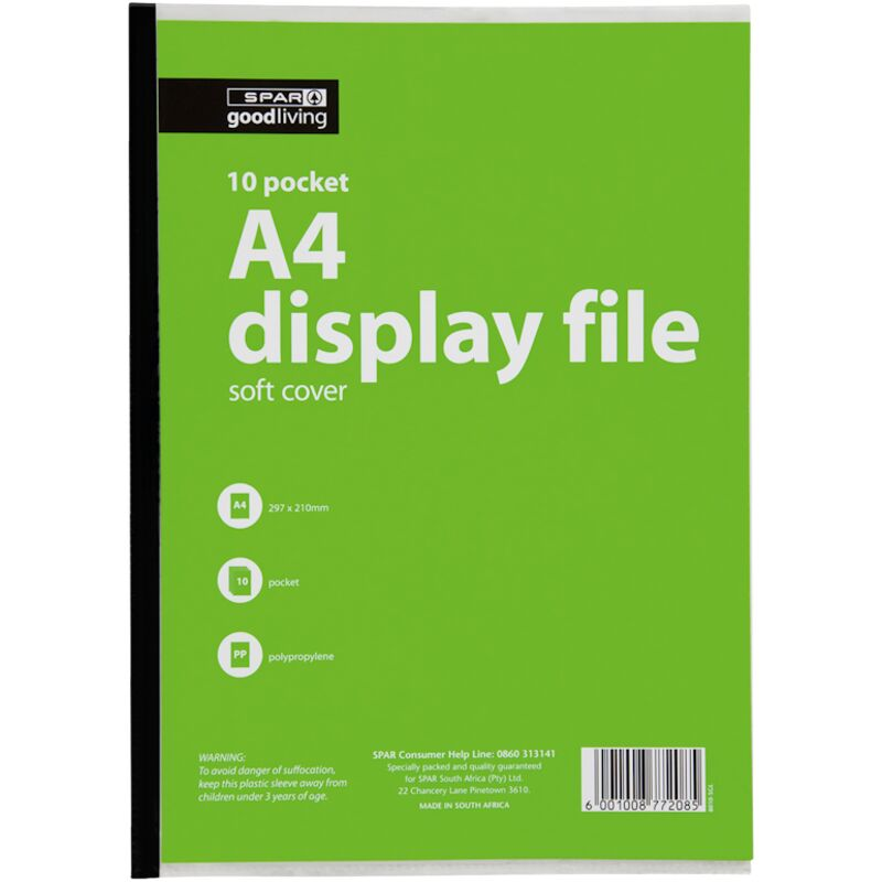GOOD LIVING DISPLAY FILE SOFT COVER 10 POCKET – 1S