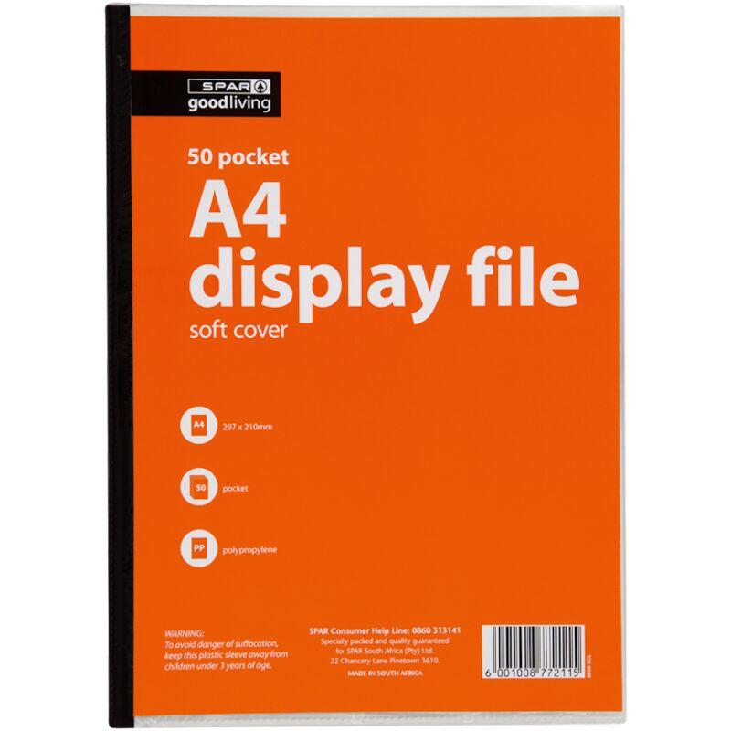 GOOD LIVING DISPLAY FILE SOFT COVER 50 POCKET – 1S