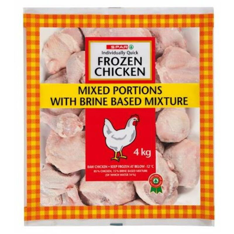 SPAR IQF CHICKEN MIXED PORTIONS – 4KG
