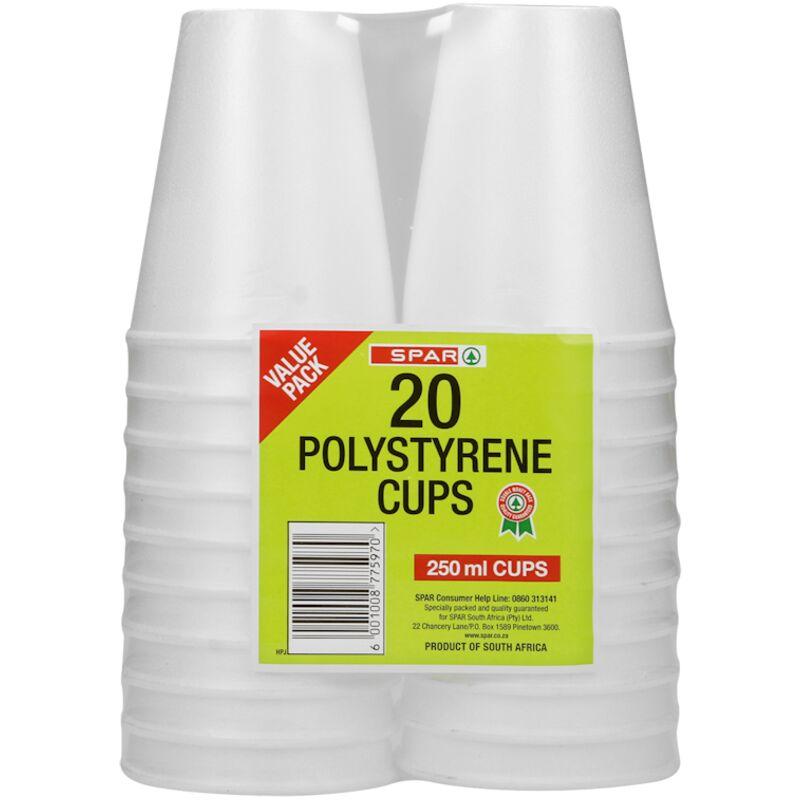 SPAR POLY CUPS – 20S