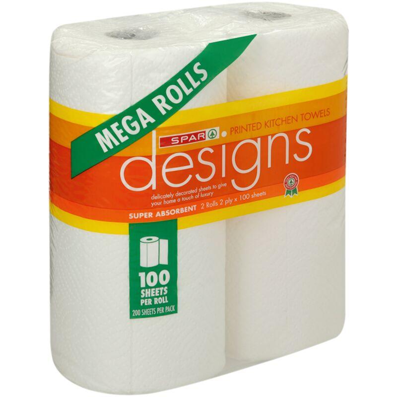 SPAR 2PLY ROLLER TOWEL MEGA ROLL WHITE – 2S
