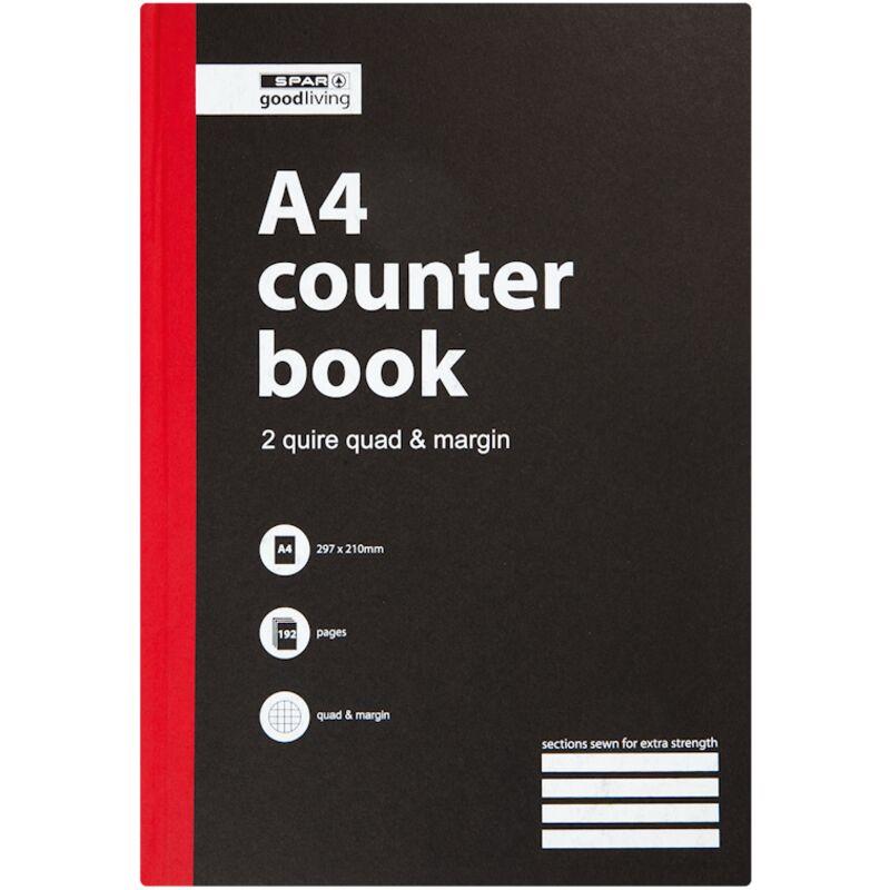 GOOD LIVING COUNTER BOOK 2 QUIRE QUAD MARGIN A4 192PG – 1S