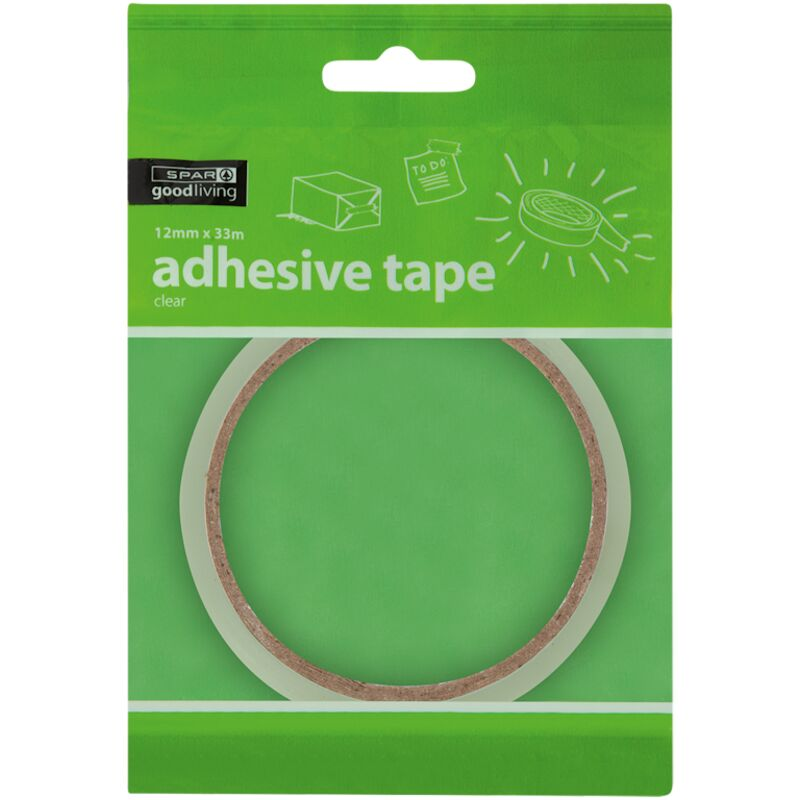 GOOD LIVING ADHESIVE TAPE CLEAR 12MM X 33M – 1S