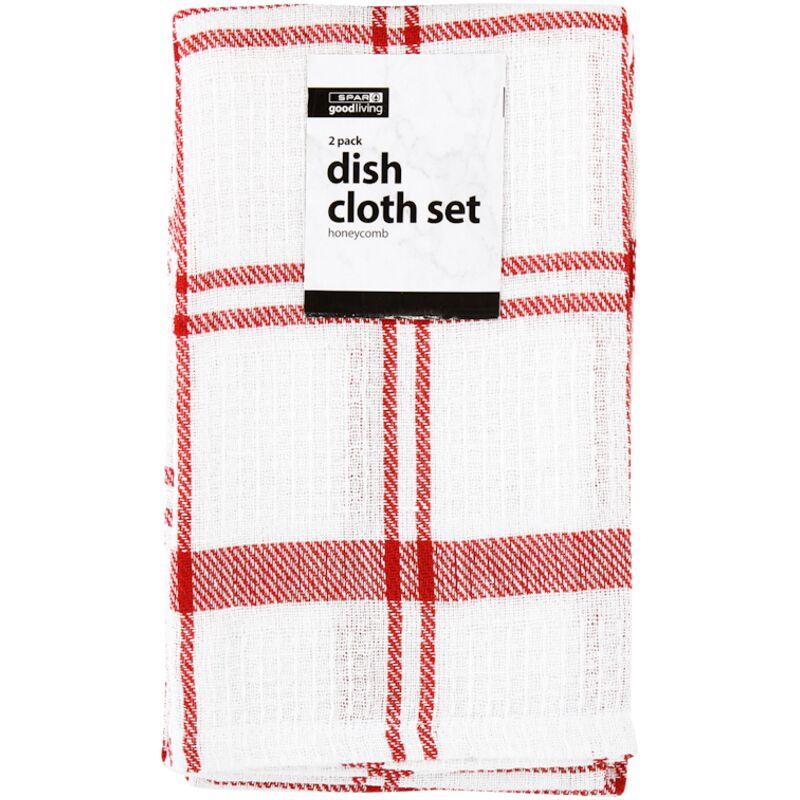 GOOD LIVING DISH CLOTH SET HONEYCOMB 2PACK – 2S