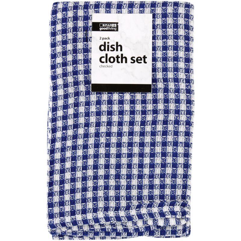 GOOD LIVING DISH CLOTH SET CHECKED – 2S