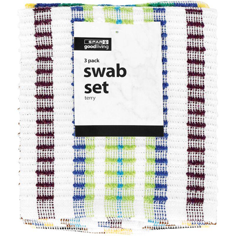 GOOD LIVING SWAB SET TERRY 3PACK – 3S
