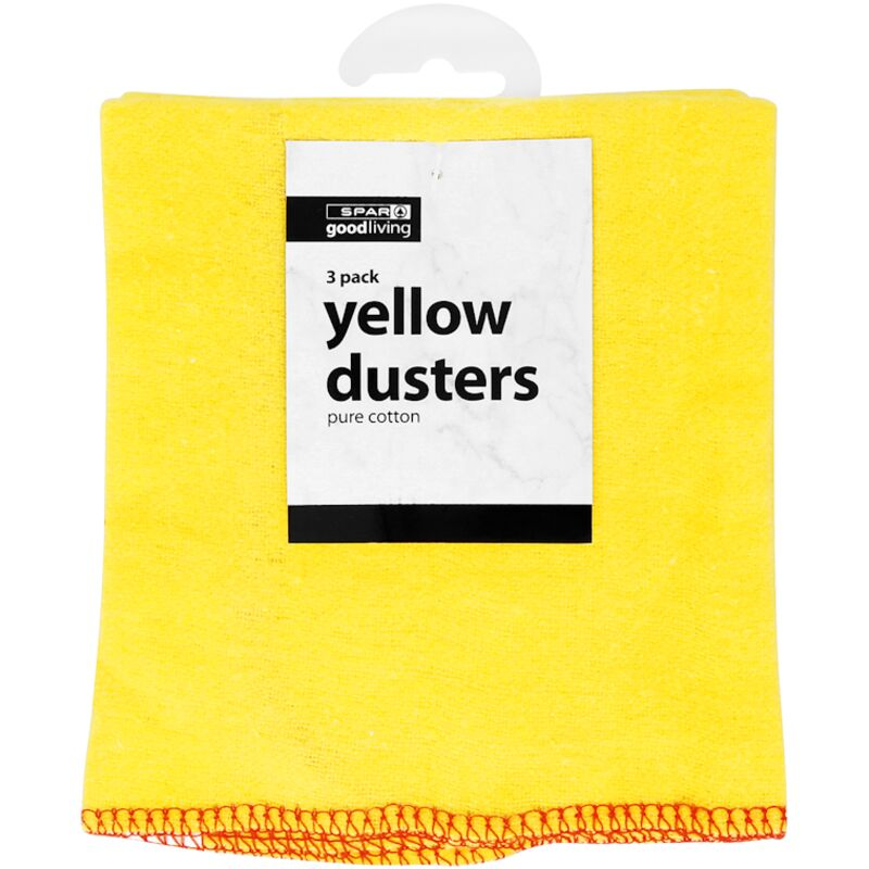 GOOD LIVING DUSTERS YELLOW 3PACK – 3S