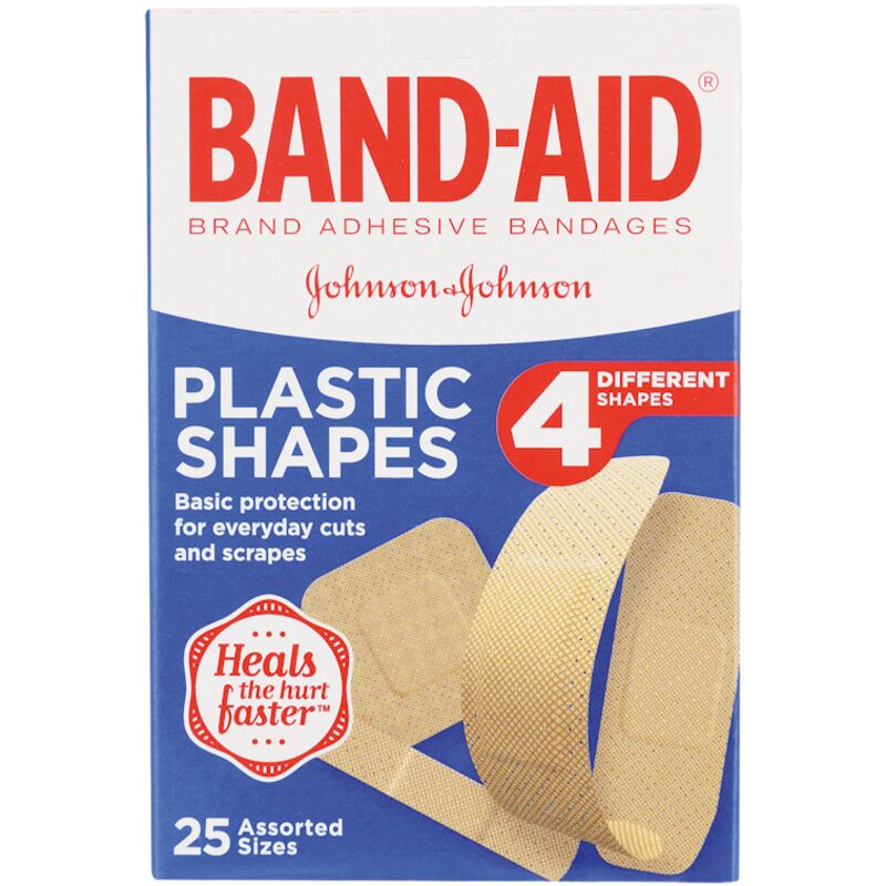 BAND AID PLASTERS PLASTIC SHAPES – 25S