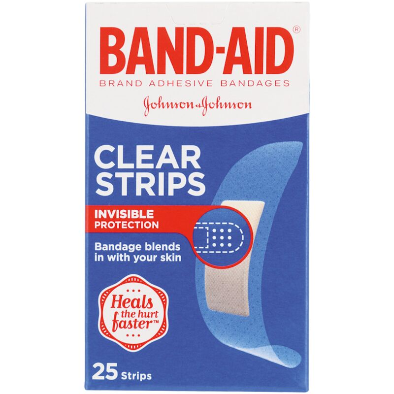 BAND AID PLASTERS CLEAR – 25S