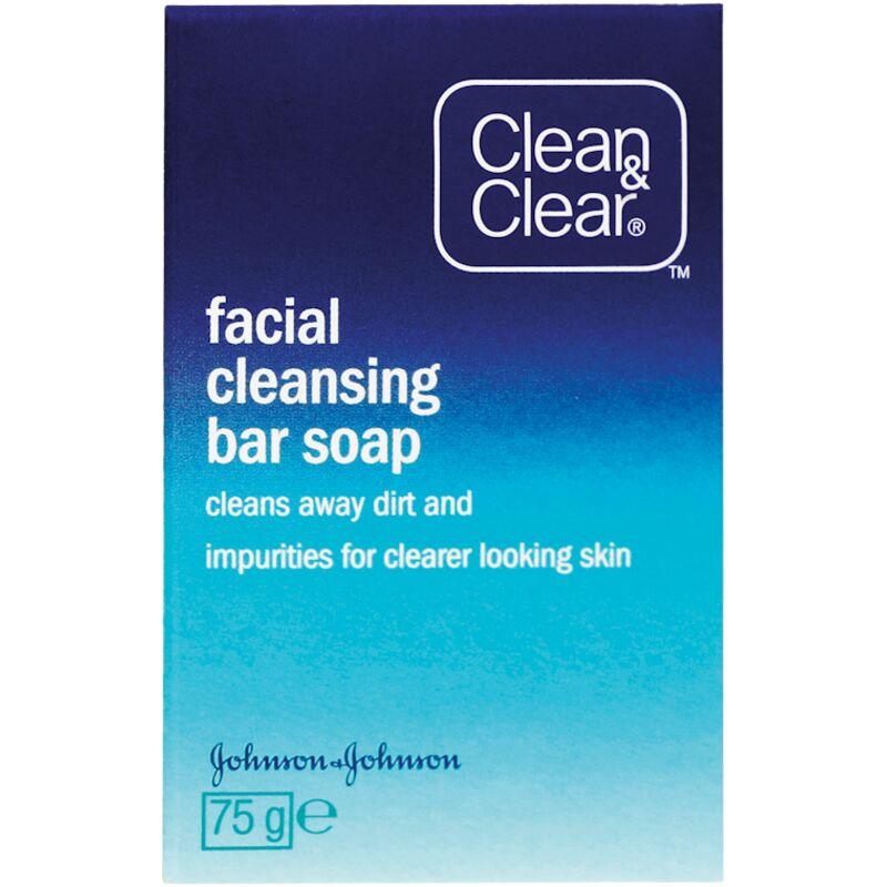 CLEAN & CLEAR FACIAL CLEANSING BAR – 75G