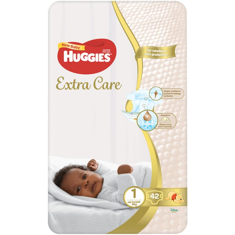 HUGGIES NEW BABY DIAPERS SIZE 1 VP – 42S