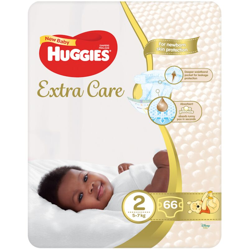 HUGGIES NEW BABY DIAPERS SIZE 2 VP – 66S