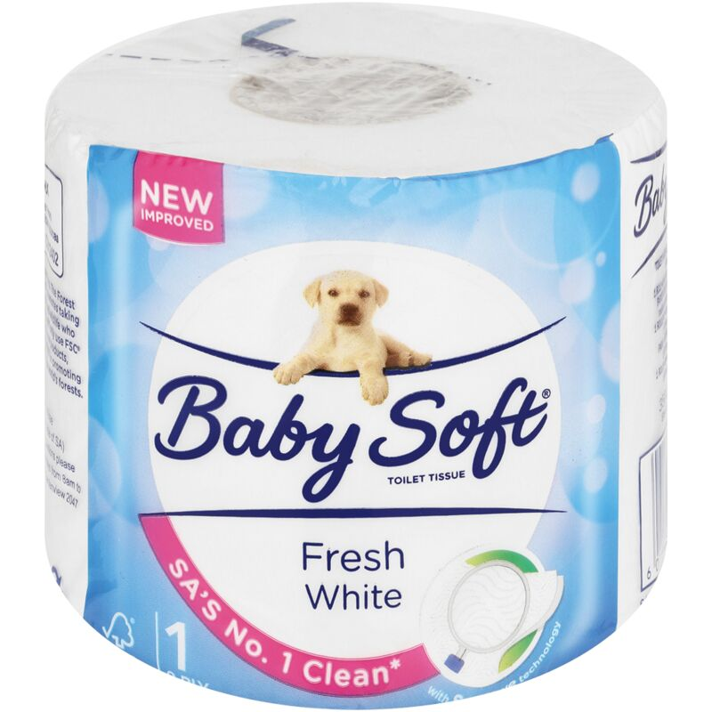 BABY SOFT 2PLY WHITE TOILET PAPER – 1S