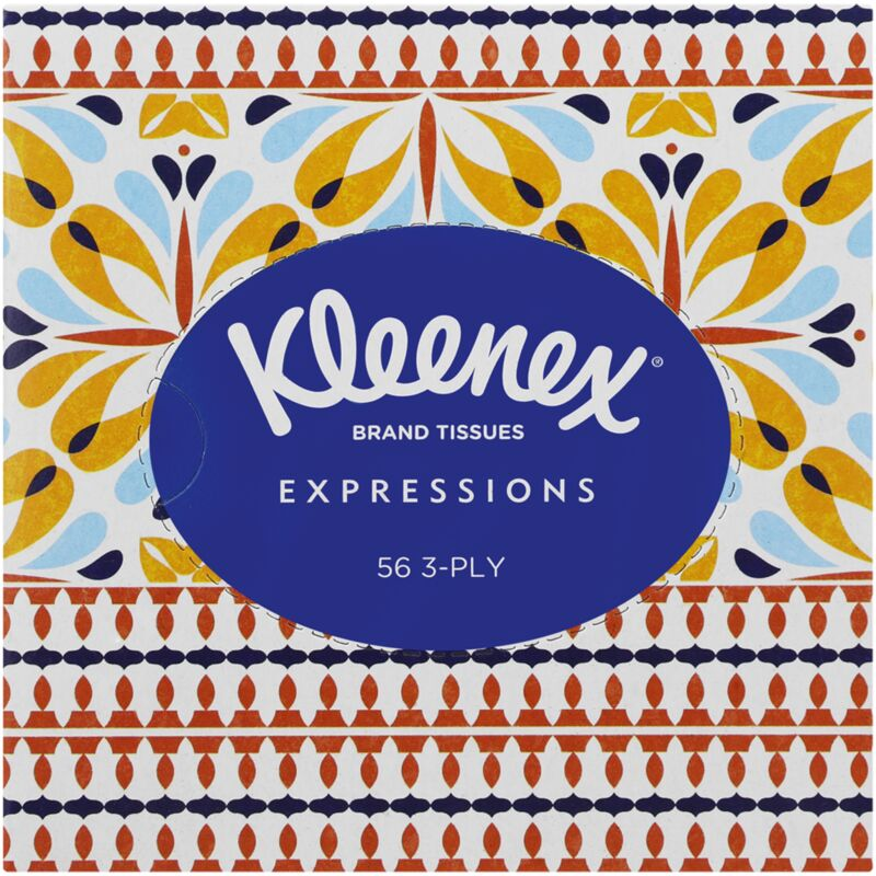 KLEENEX 3PLY WHITE EXPRESSIONS FACIAL TISSUES – 56S