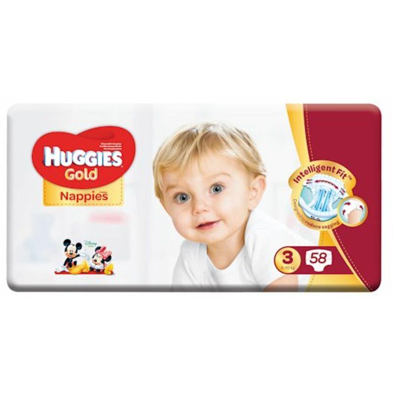 HUGGIES GOLD SIZE 3 UNISEX VP – 58S