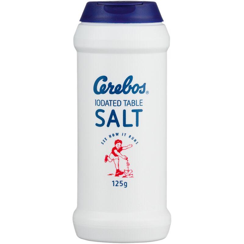 CEREBOS TABLE SALT IODAETD FLASK – 125G