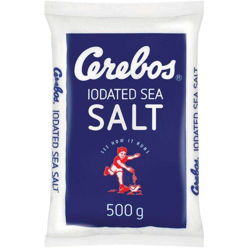 CEREBOS TABLE SALT IODAETD POLY – 500G