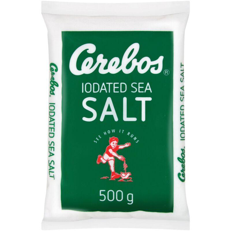 CEREBOS IODATED SEA SALT POLY – 500G