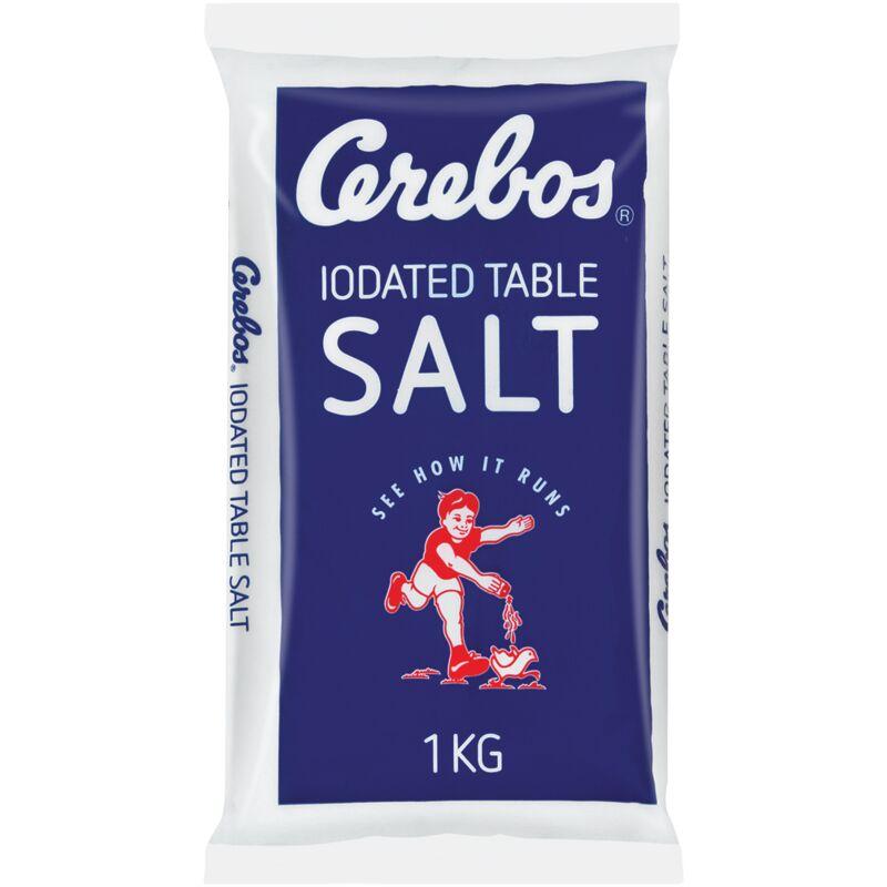 CEREBOS SEA SALT IODATED POLY – 1KG