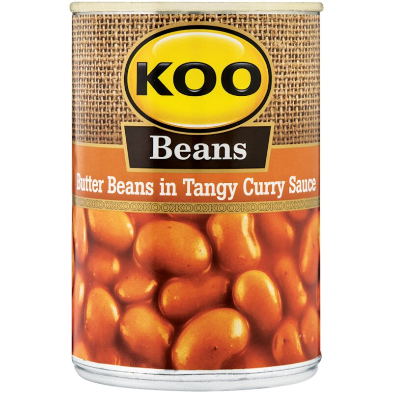 KOO BUTTER BEANS IN TANGY CURRY SAUCE – 410G