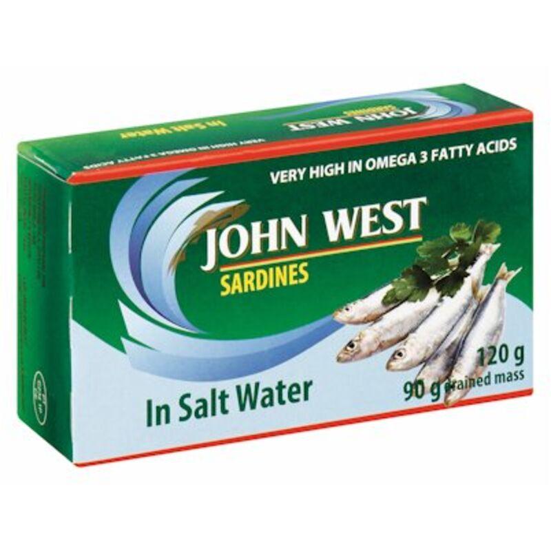 JOHN WEST SARDINES BRINE – 120G