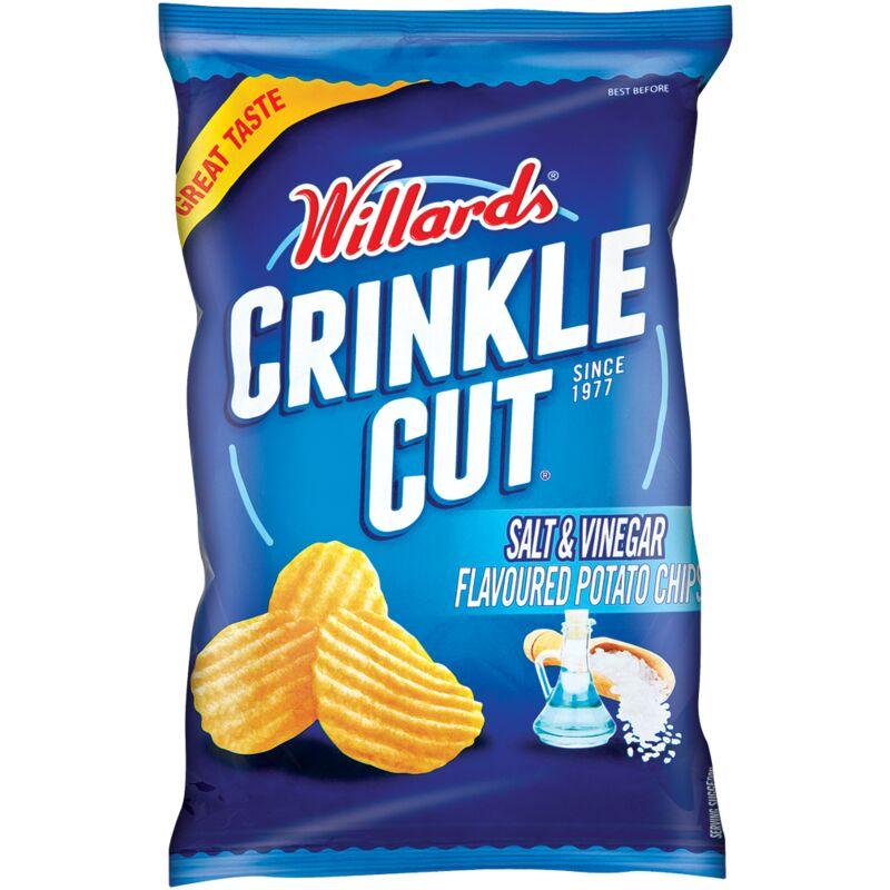 WILLARDS CRINKLE CUT SALT & VINEGAR – 125G