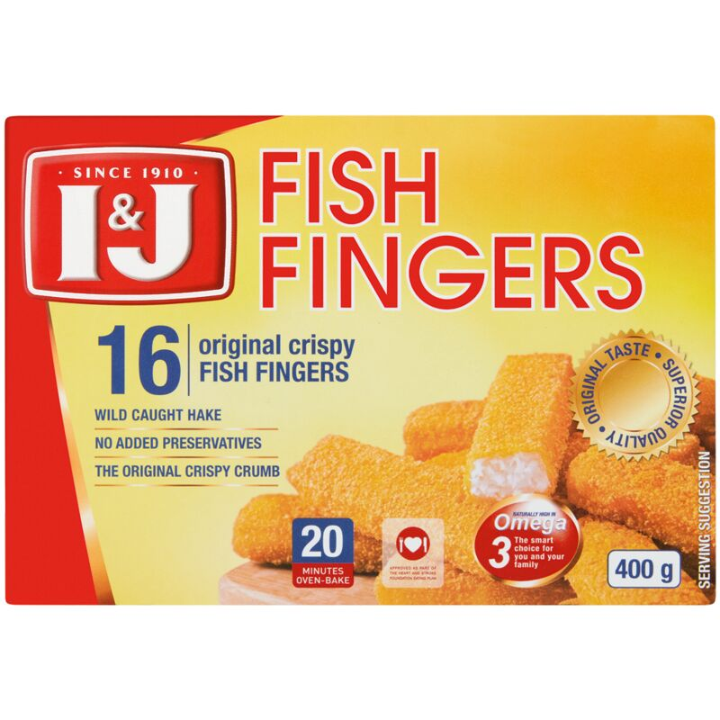 I&J ORIGINAL FISH FINGERS – 400G