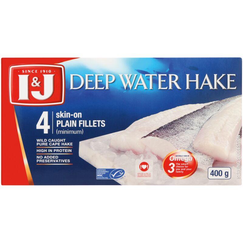 I&J DEEP WATER HAKE FILLETS – 400G