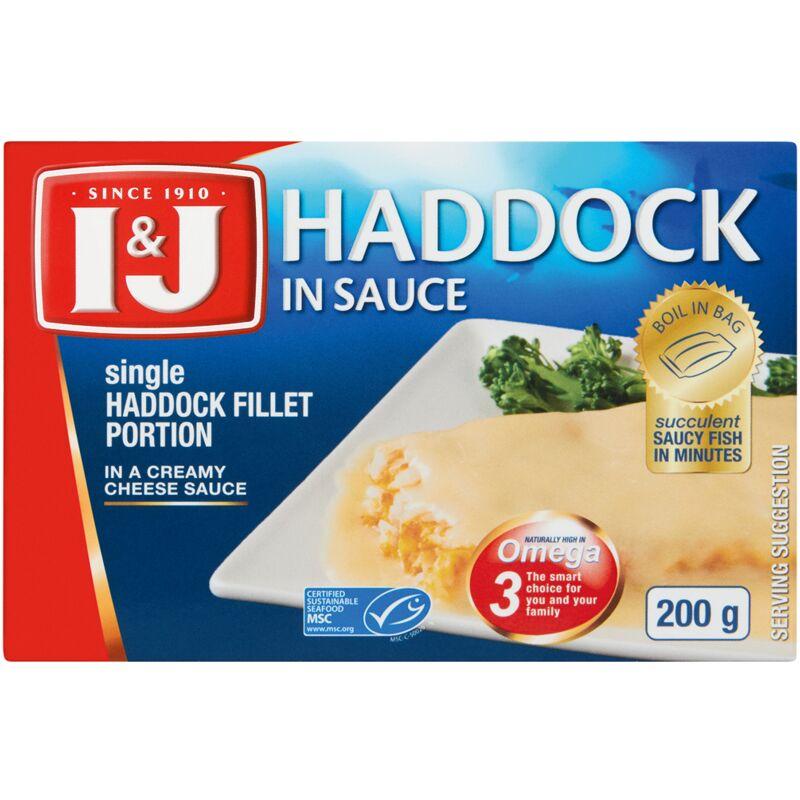 I&J HADDOCK IN SAUCE CHEDDAR – 200G