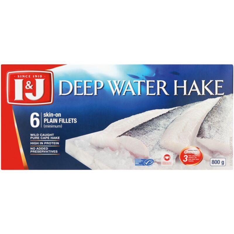 I&J DEEP WATER HAKE FILLETS – 800G