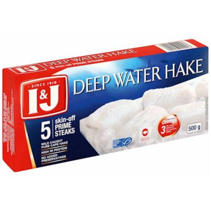 I&J DEEP WATER HAKE PRIME STEAKS – 500G